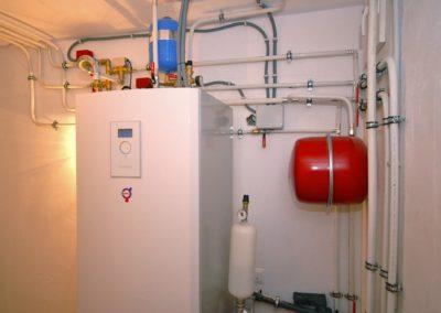 Compacta instalación de geotermia