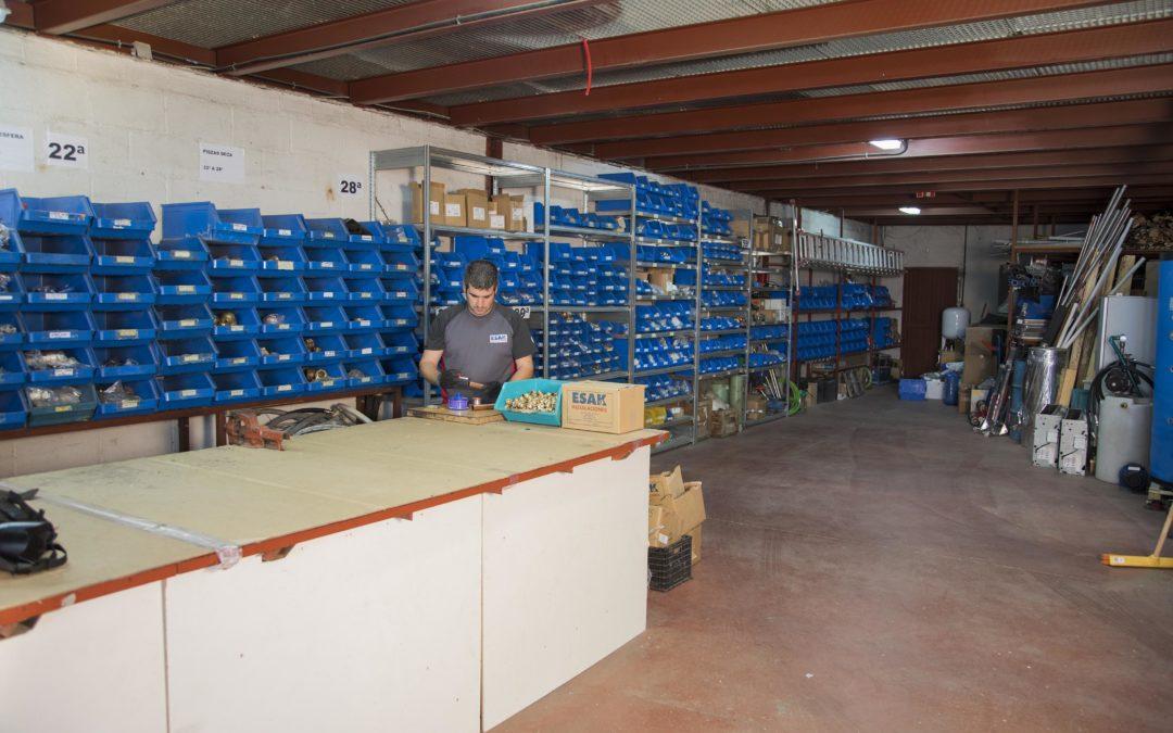Nueva distribución del almacén de ESAK